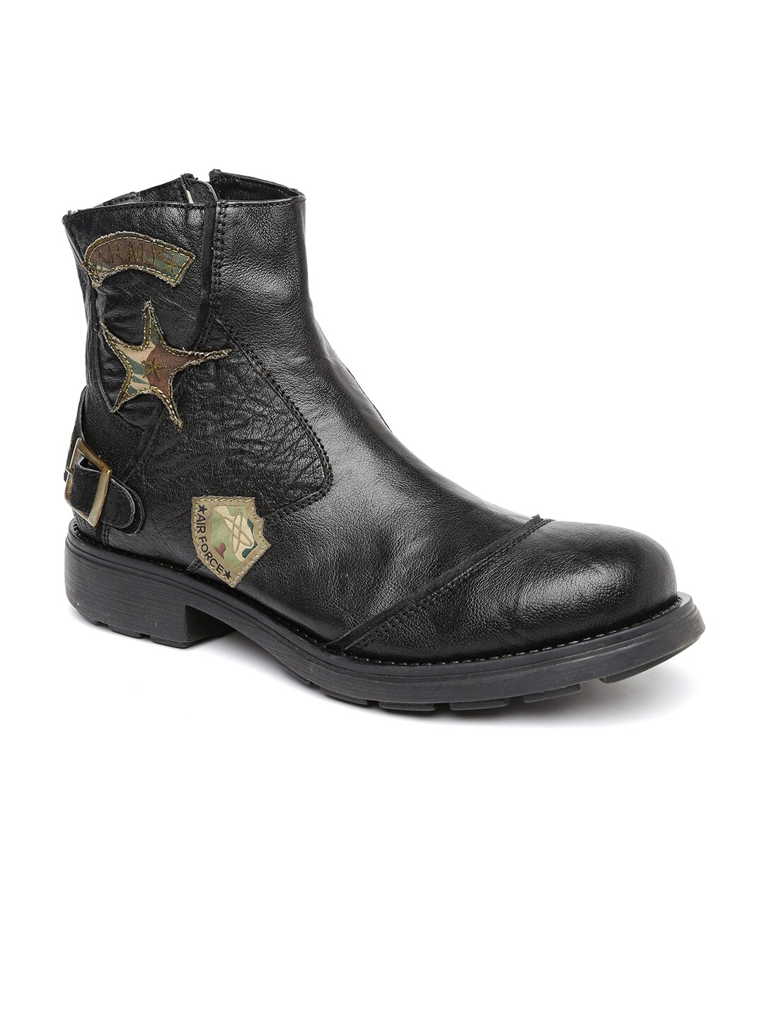 Buckaroo Men Black Leather Boots image