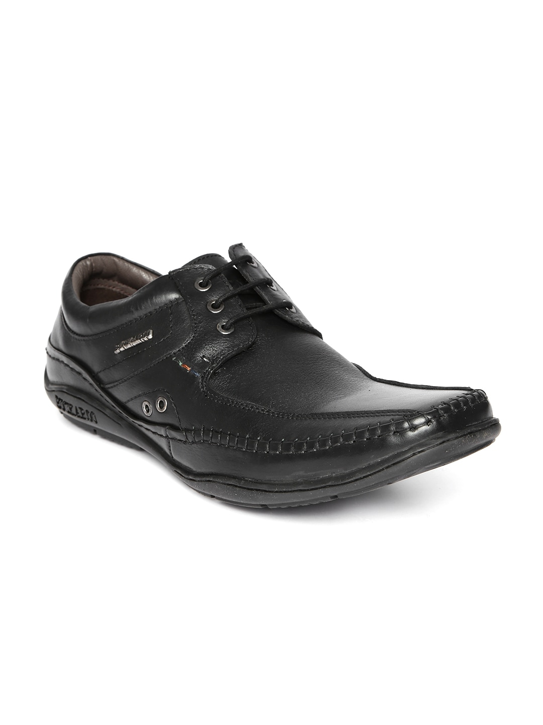 Buckaroo Men Black Leather Casual Shoes image
