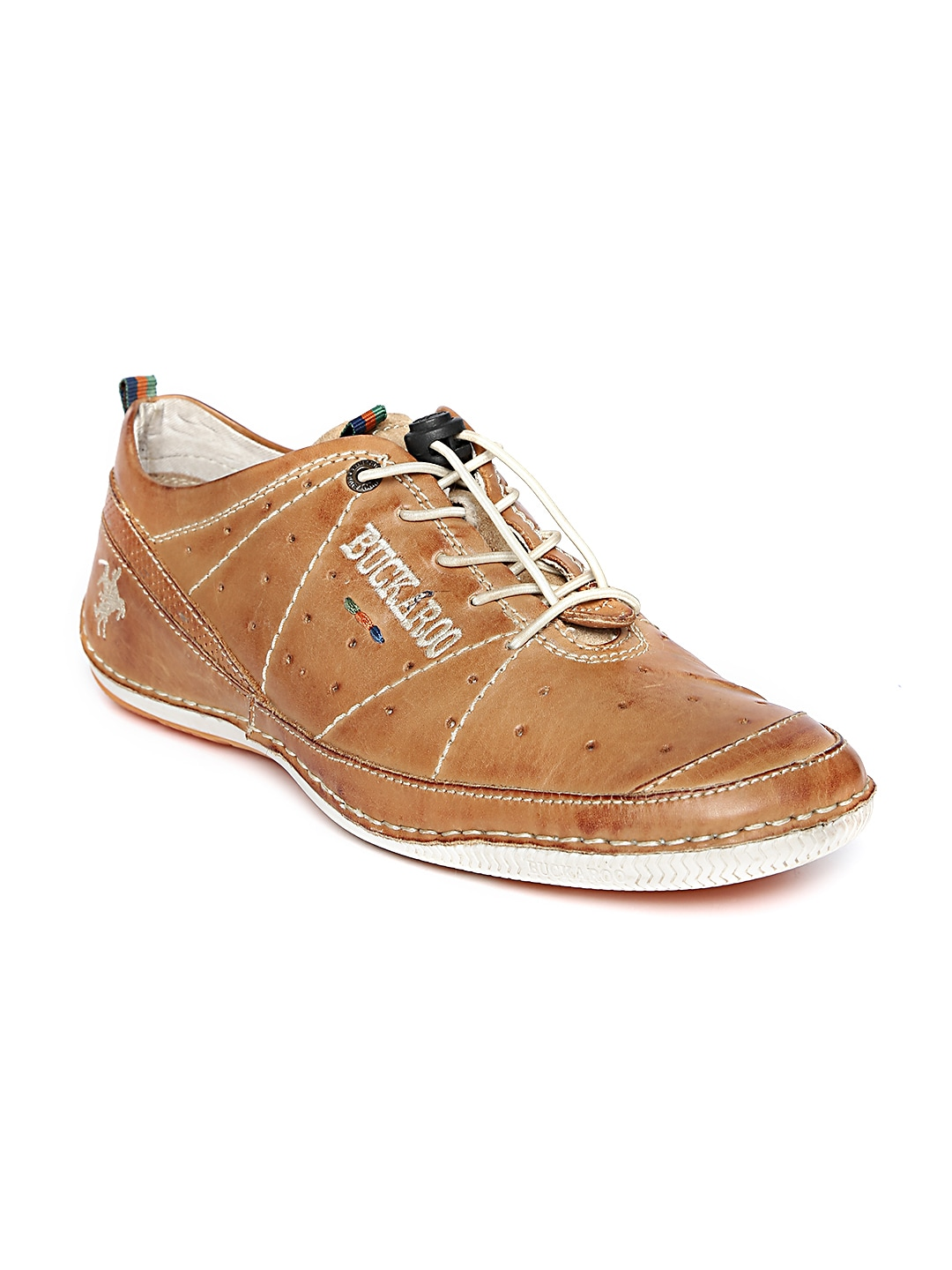 Buckaroo Men Tan Brown Leather Casual Shoes image