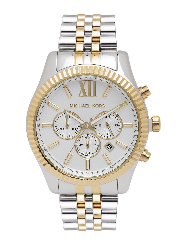 Michael Kors Men Off-White Dial Watch MK8344I