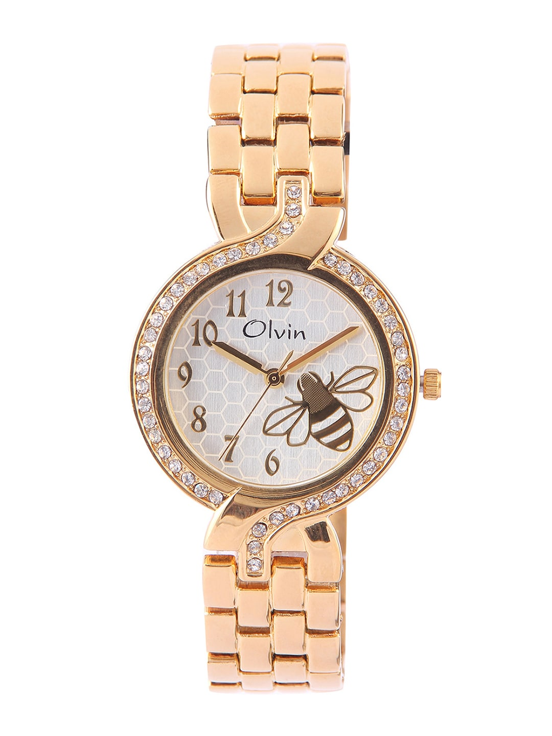 Olvin Women Silver-Toned Dial Watch 1671-YM01 image