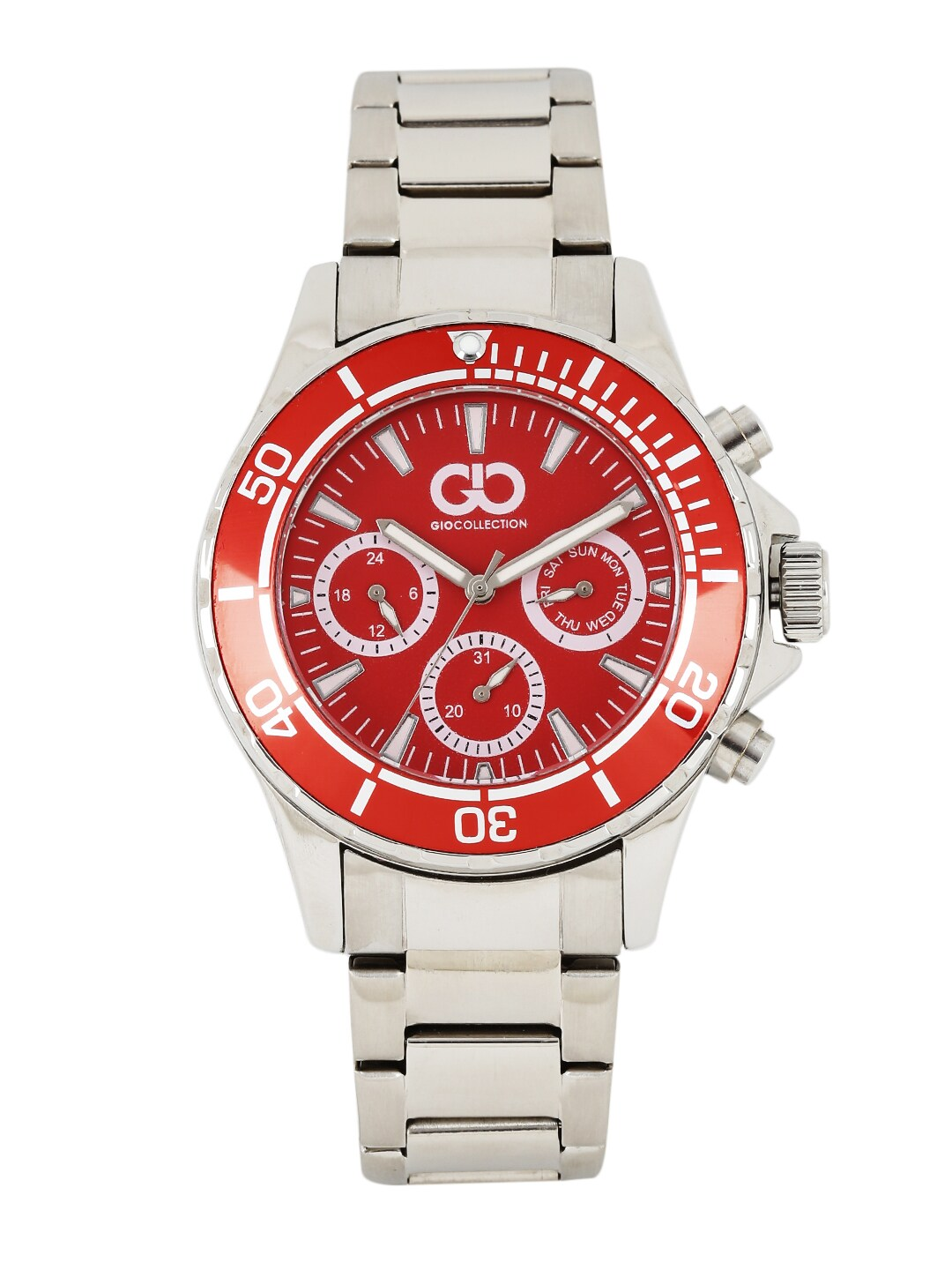 GIO COLLECTION Men Red Analogue Watch GAD0041-B image
