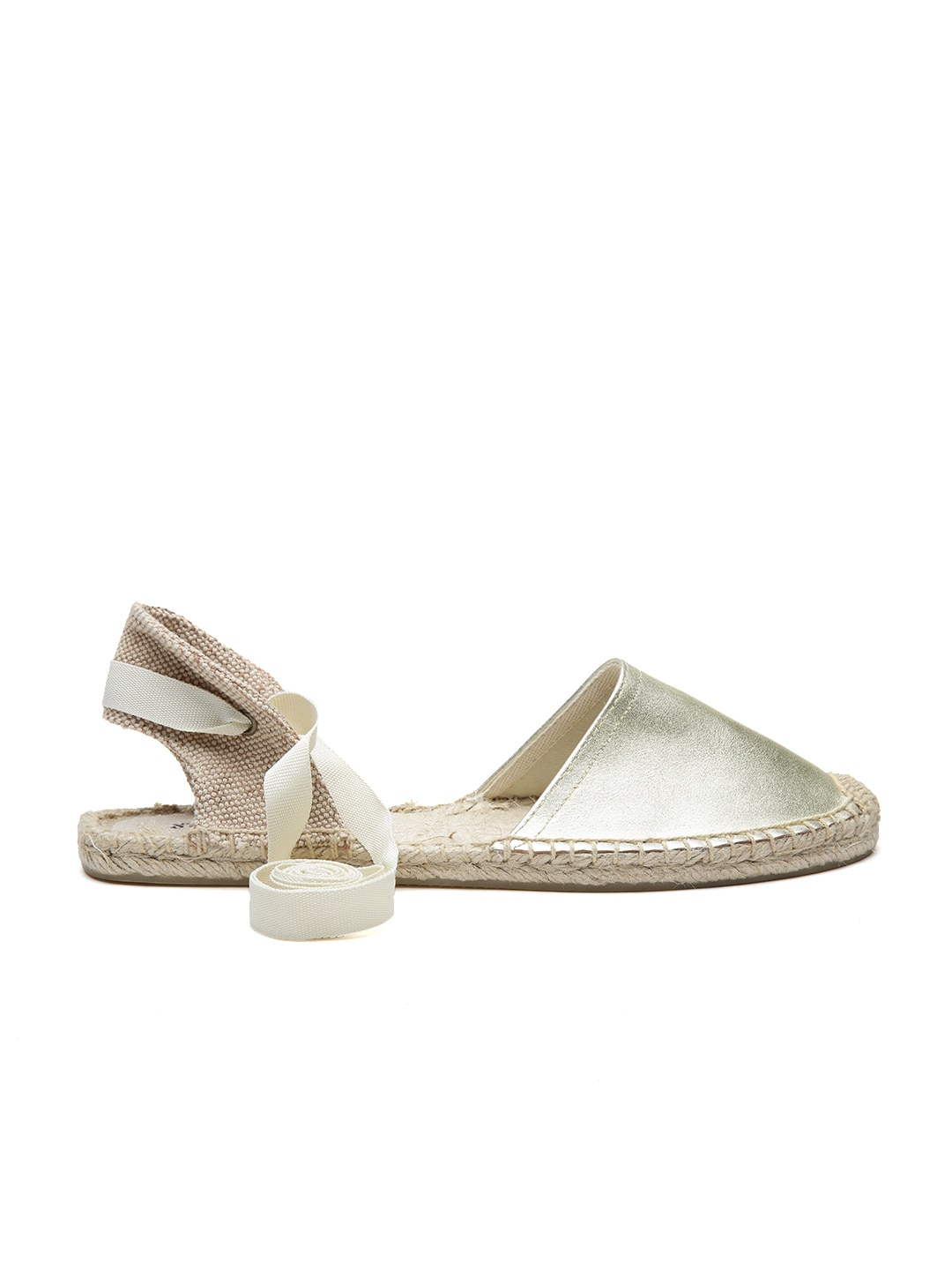 Soludos Women Gold-Toned Leather Espadrilles image