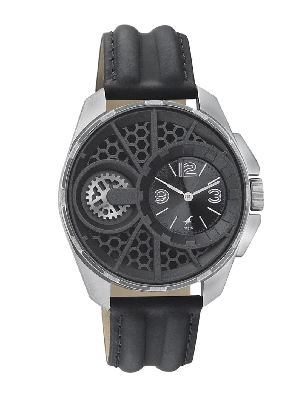 Fastrack Men Black Dial Watch 3133SL01 image
