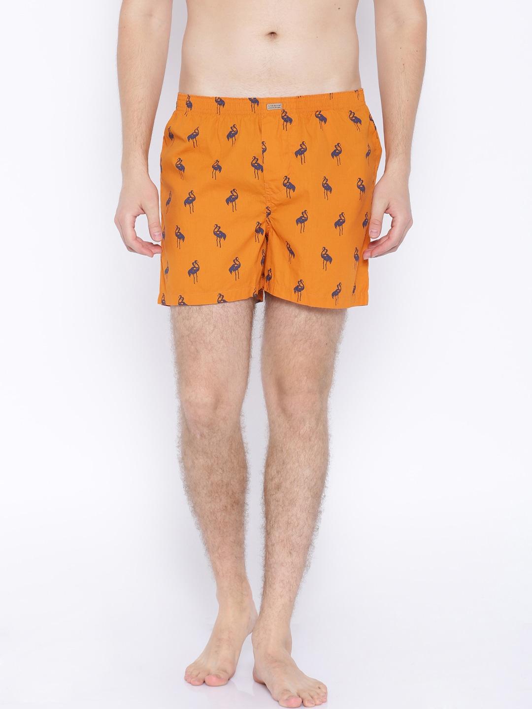 Flying Machine Orange Printed Boxers FMAM8039 image
