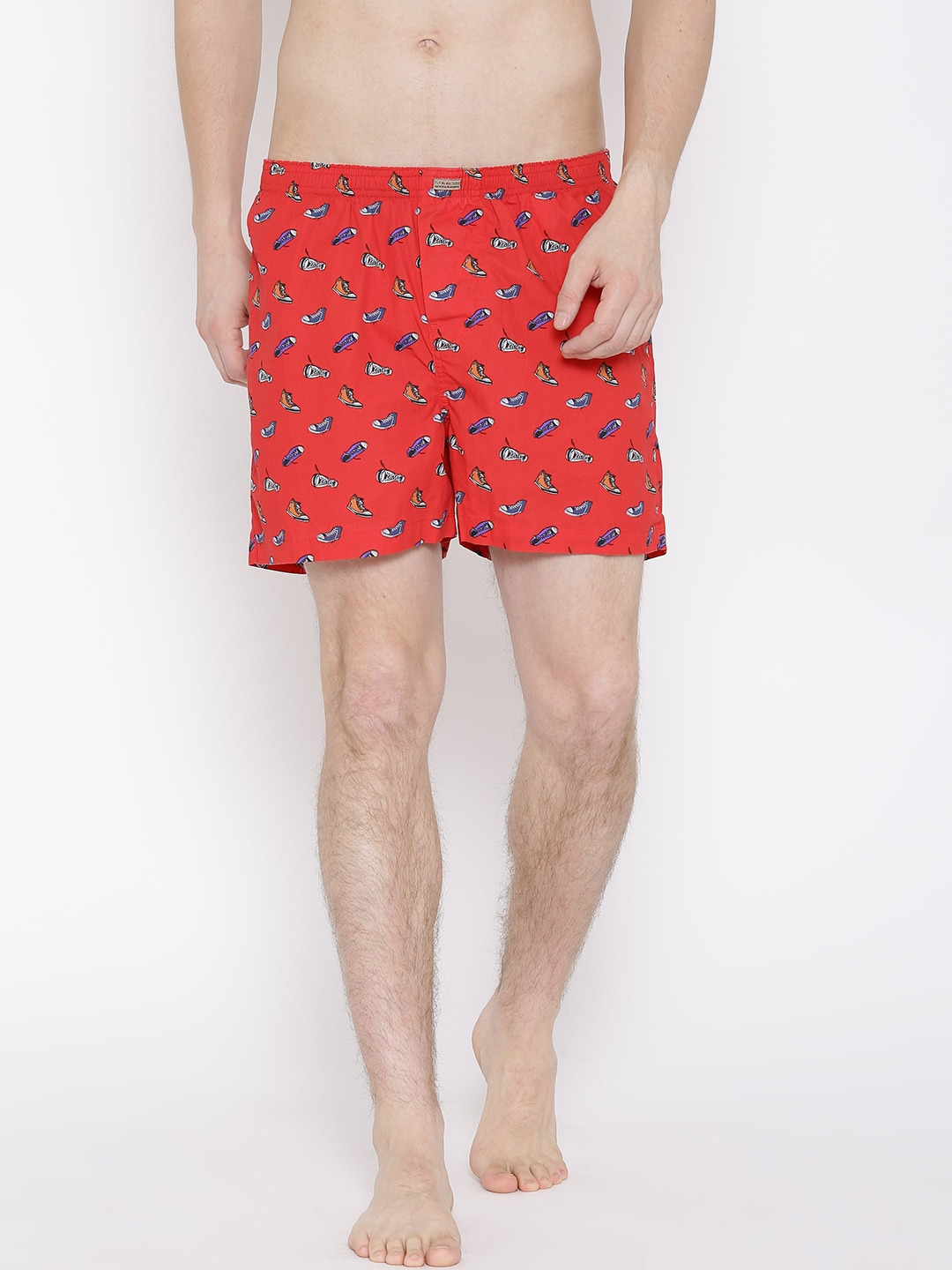 Flying Machine Red Printed Boxers FMAM8044 image