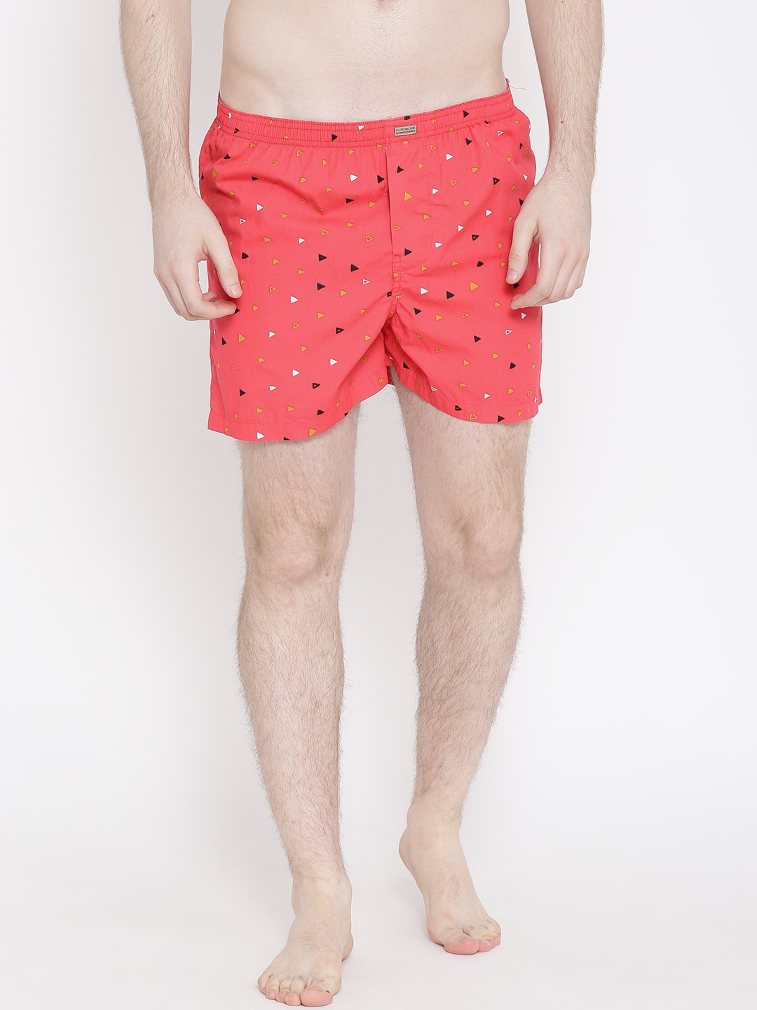 Flying Machine Red Printed Boxers FMAM8047 image