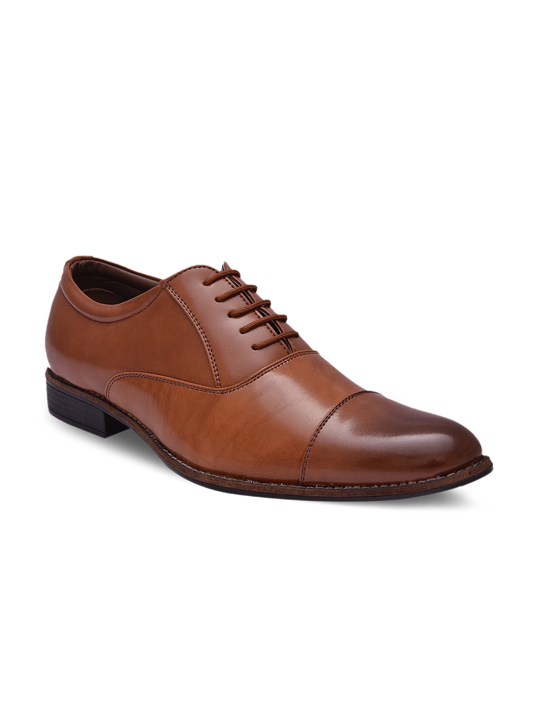 Sir Corbett Men Tan Brown Formal Shoes Price in India