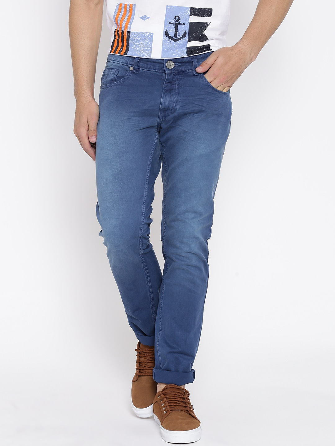 People Blue Washed Jeans image