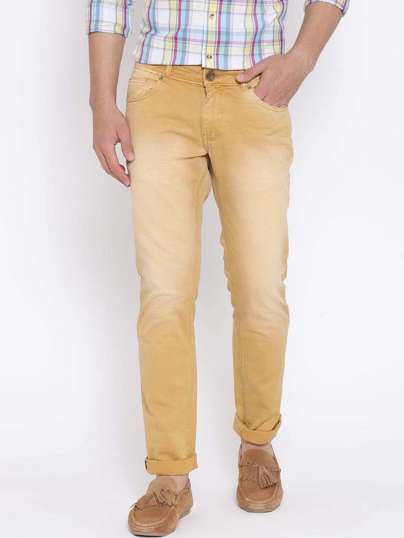 People Khaki Washed Jeans image