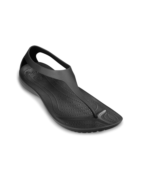 Crocs Women Black Flip-Flops image