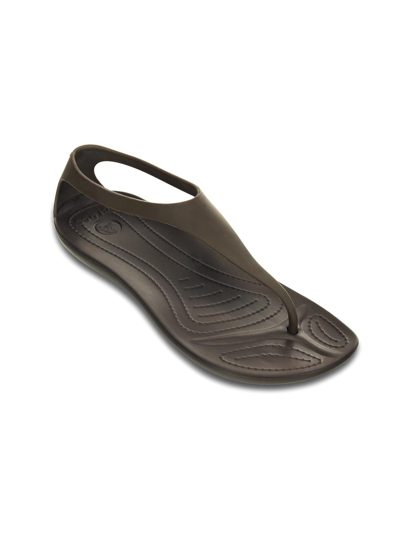 Crocs Women Brown Flip-Flops image