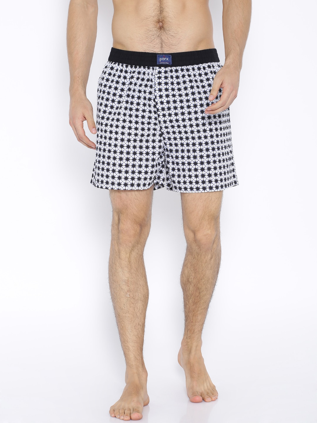 Parx Black & White Printed Boxers XMNH00131 image