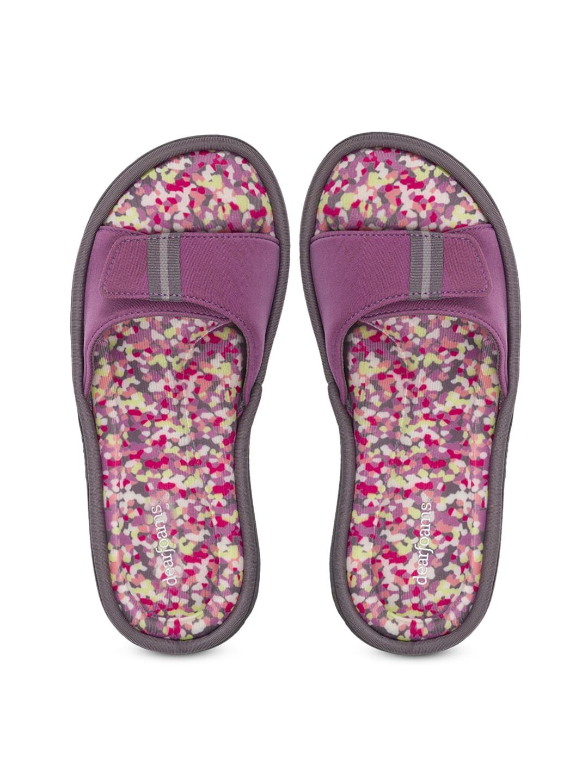 Dearfoams Women Purple Flats image