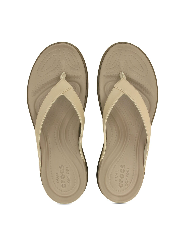 Crocs Women Beige Flats image