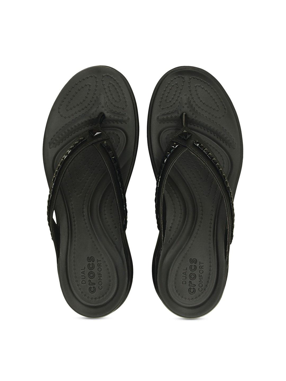 Crocs Women Black Embellished Flats image