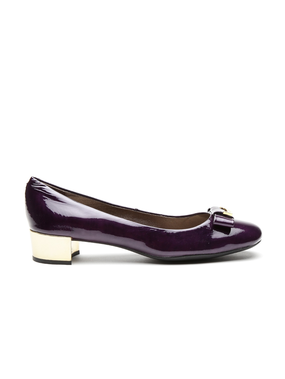 GEOX Respira Women Purple Italian Patent Leather Pumps image