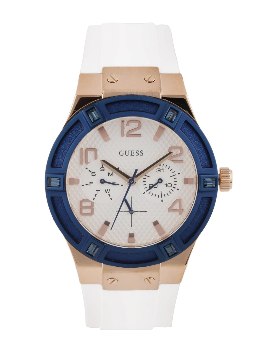 GUESS Women Off-White Textured Dial Watch W0564L1 image