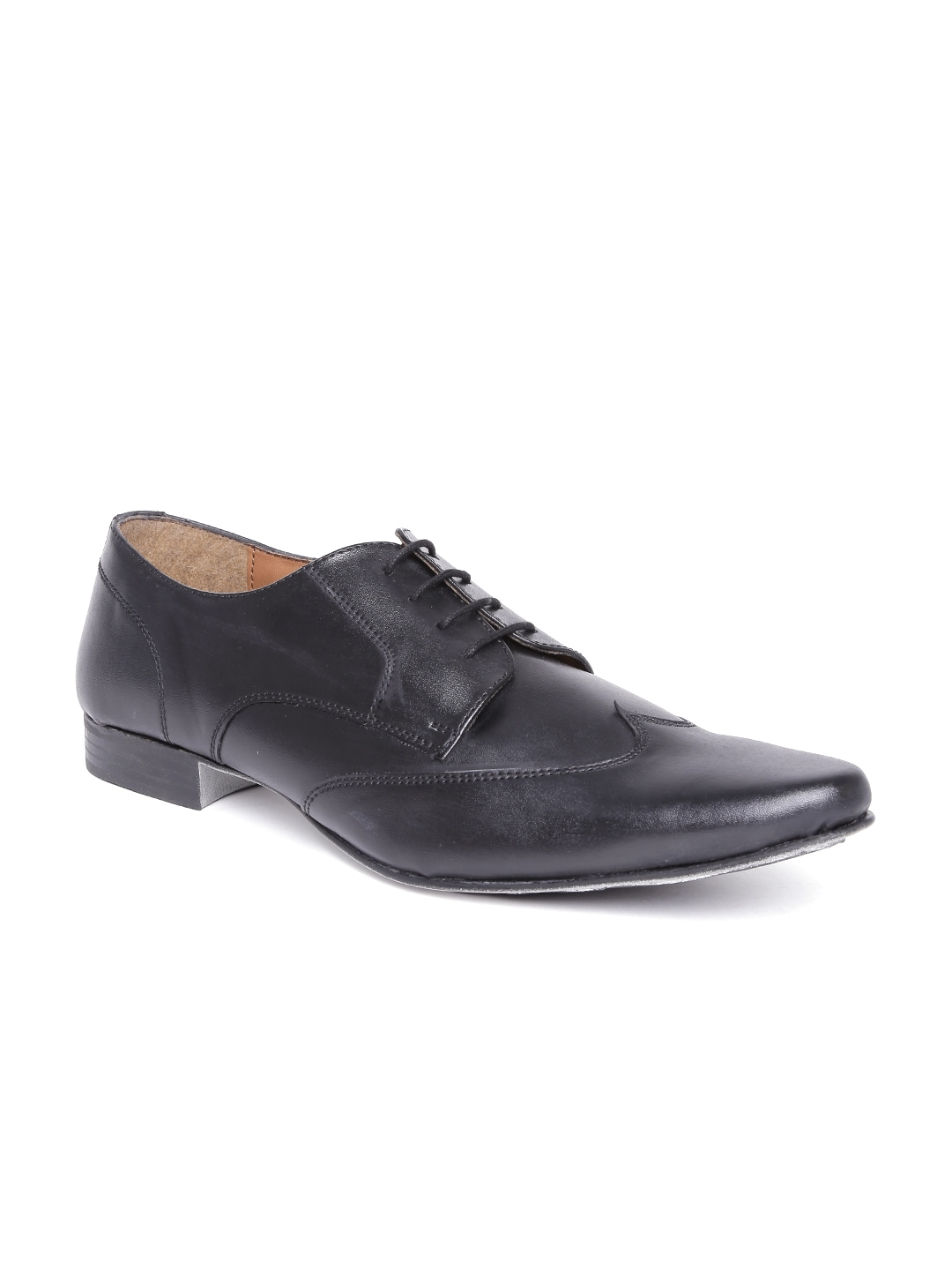 Knotty Derby by Arden Men Black Formal Shoes image