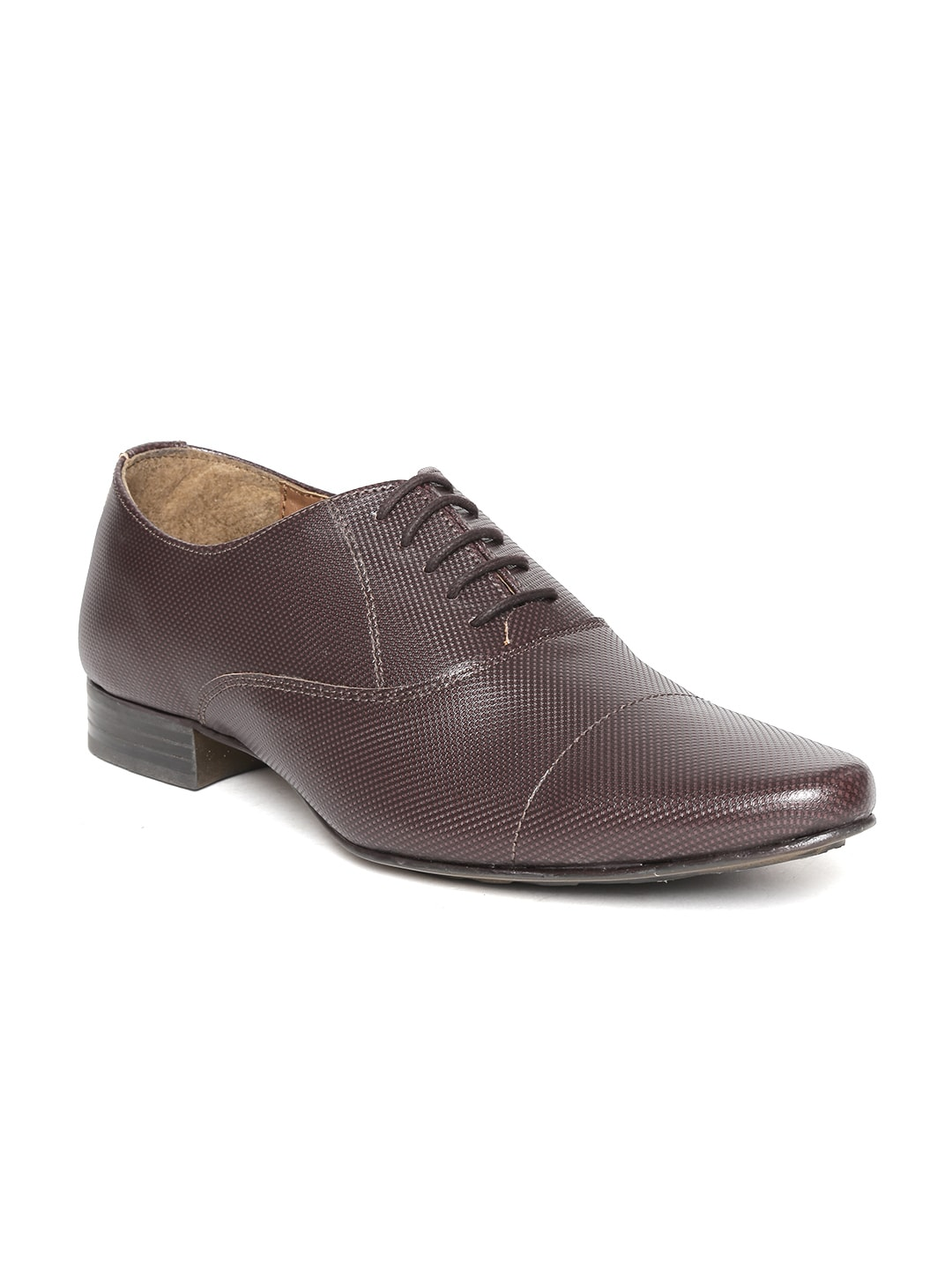 Knotty Derby by Arden Men Coffee Brown Formal Shoes image
