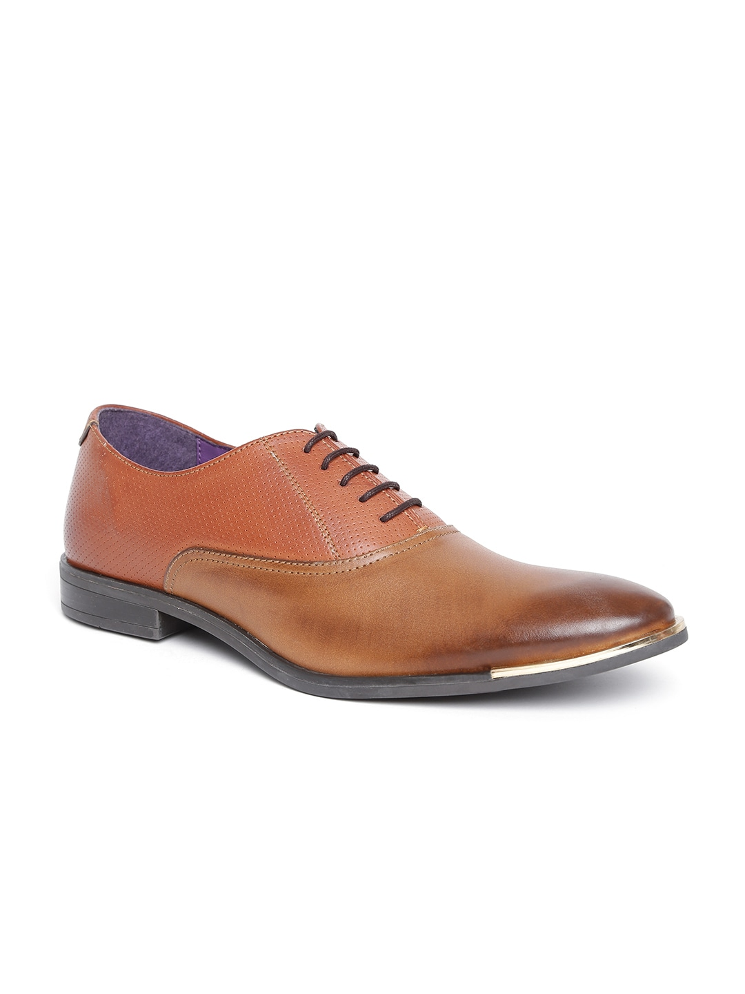 Knotty Derby by Arden Men Tan Brown Formal Shoes image