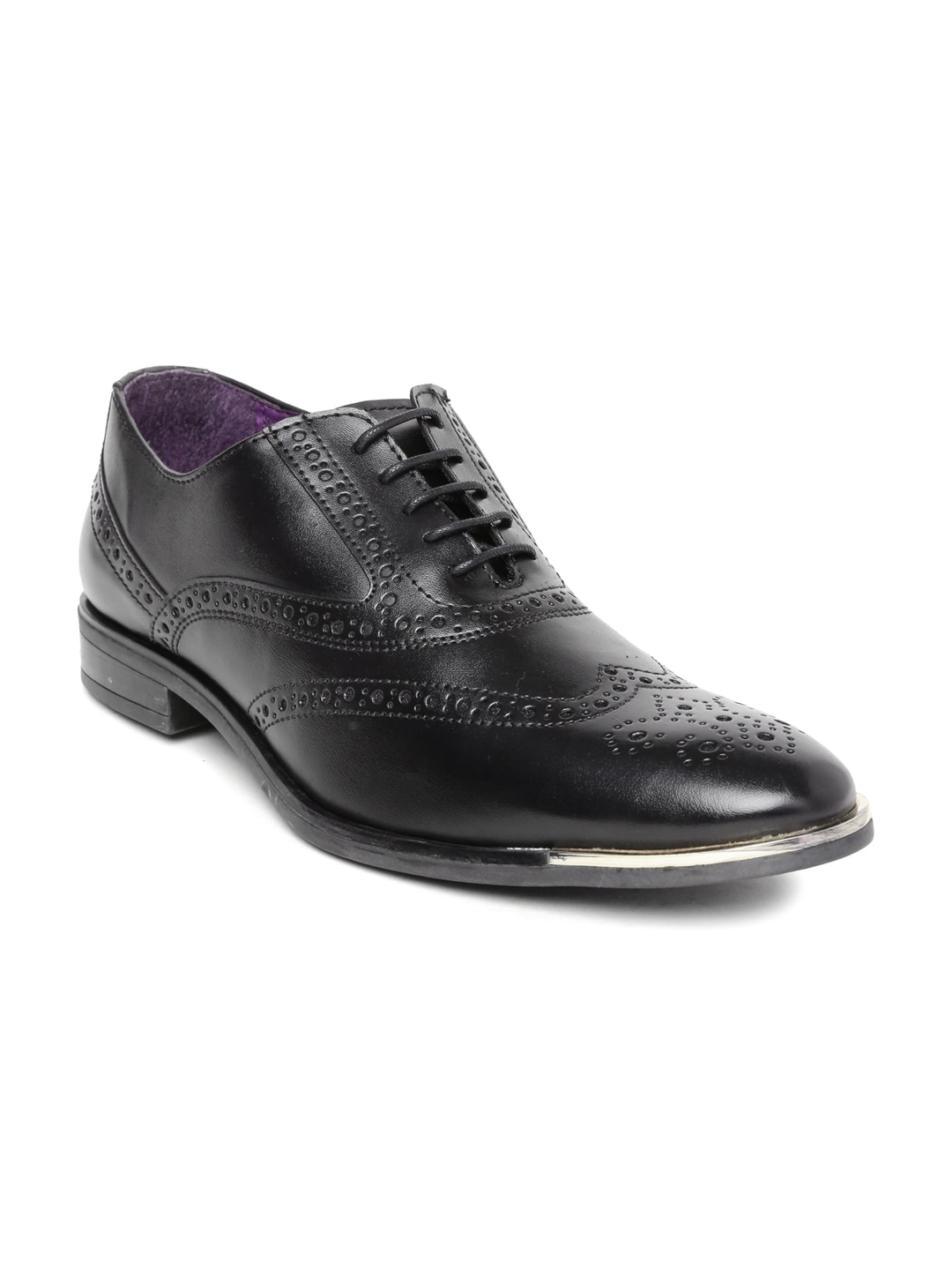 Knotty Derby Men Black Brogues image