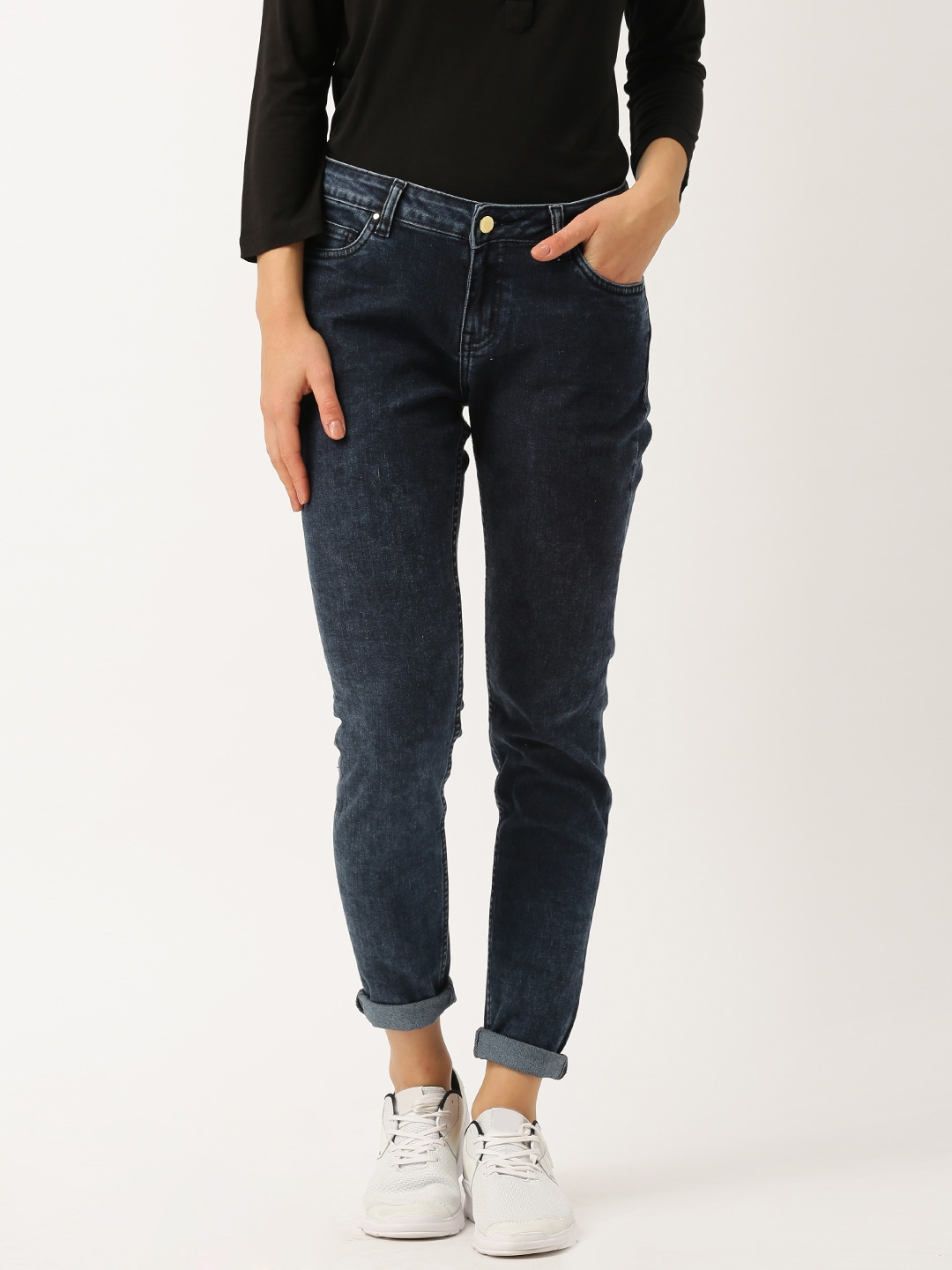 DressBerry Blue Skinny Fit Stretchable Jeans image