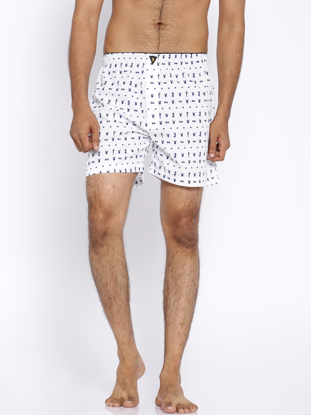 Playboy White Printed Boxers LW17 image