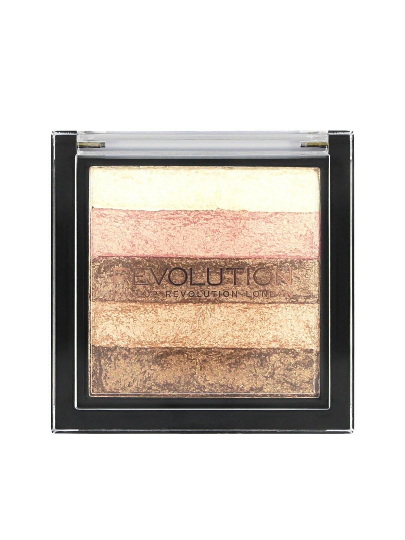 Makeup Revolution London Vivid Shimmer Brick Radiant Bronzer with Highlighters image