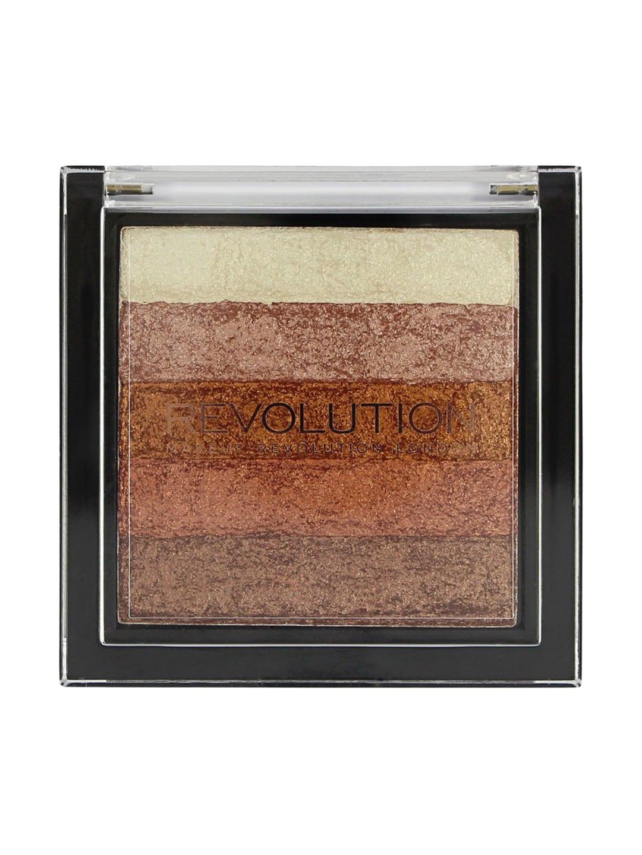 Makeup Revolution London Vivid Shimmer Brick Rode Gold Bronzer with Highlighters image