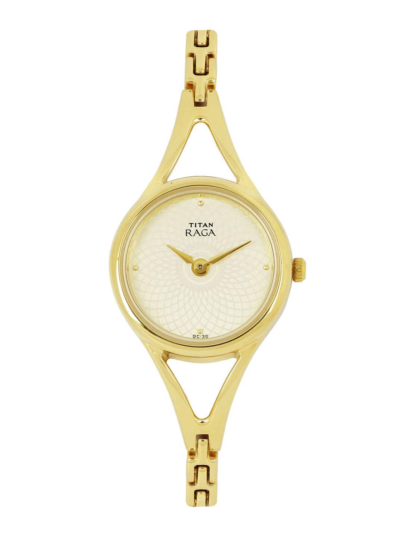 Titan Raga Women Gold-Toned Dial Watch NF2494YM01 image