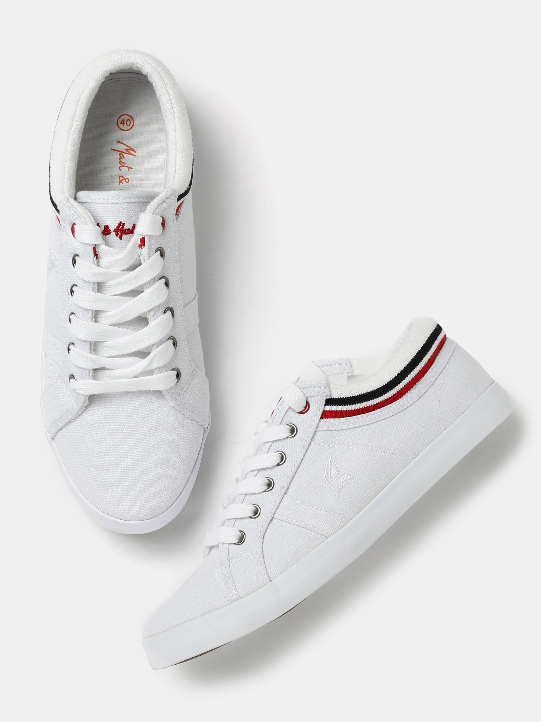 Buy Mast & Harbour Men's White Colored Sneakers Online at Best Price in India