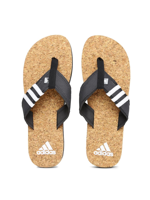 Adidas Men Charcoal Grey Beach Cork Flip-Flops image