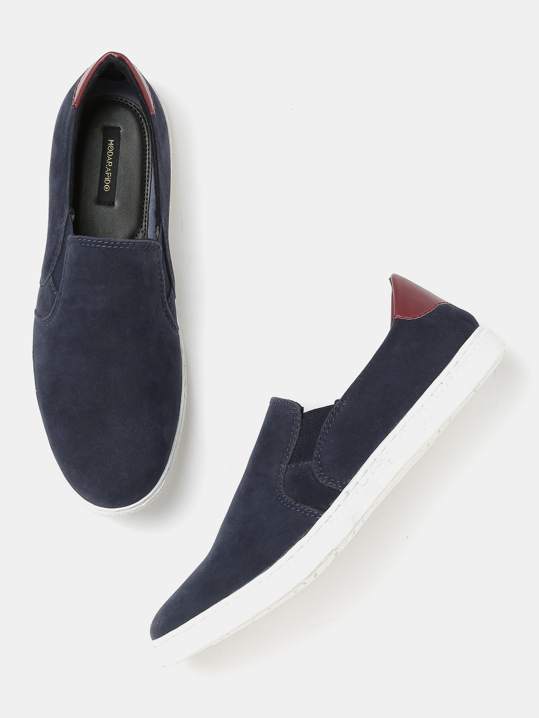 Moda Rapido Men Navy Slip-On Sneakers image