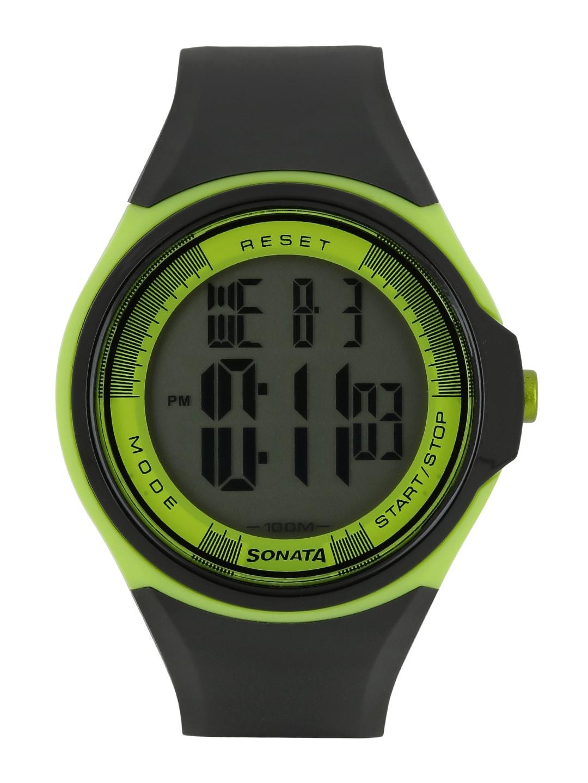 Sonata Men Ocean Series Black Digital Watch NE7992PP10J image