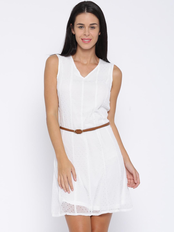 Allen Solly Woman White A-line Dress image