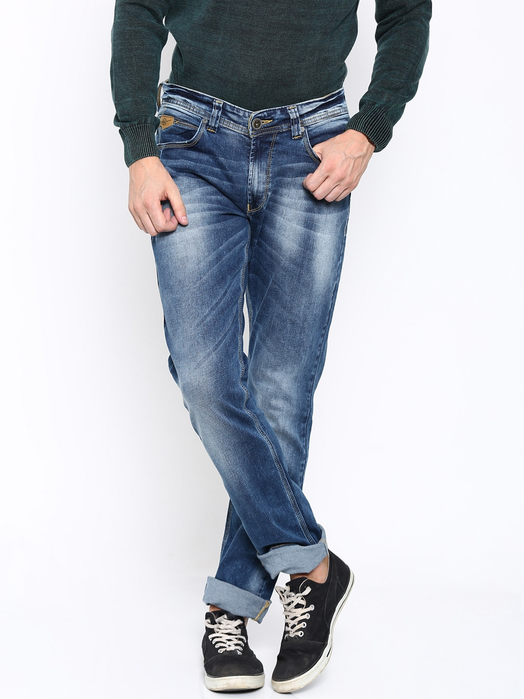 SPYKAR Men Blue Rover Slim Fit Low-Rise Stretchable Jeans image