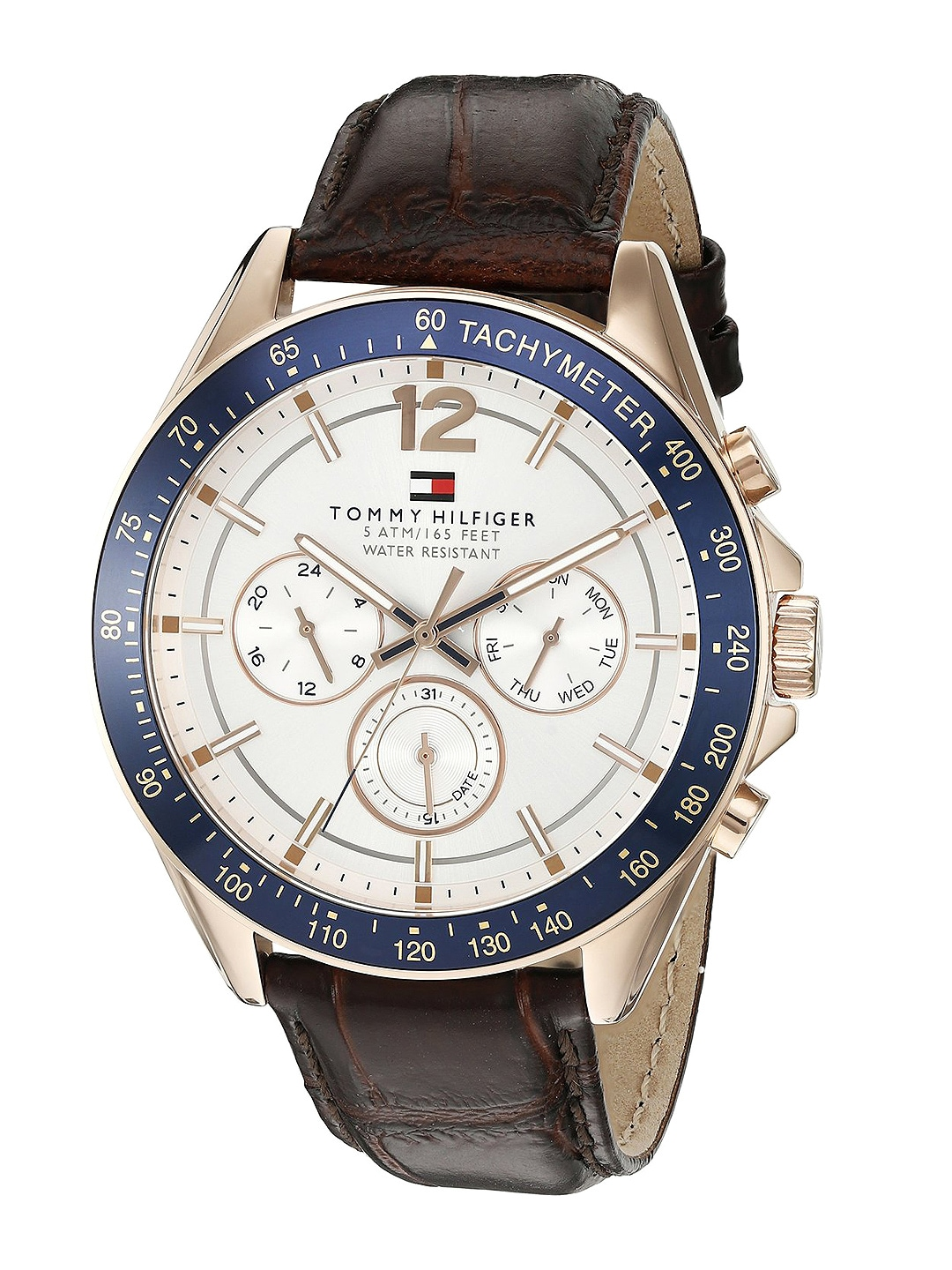 Tommy Hilfiger Men Off-White Dial Chronograph Watch TH1791118J image