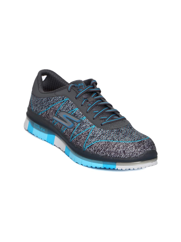 Skechers Women Grey Go Flex Ability Walking Shoes image