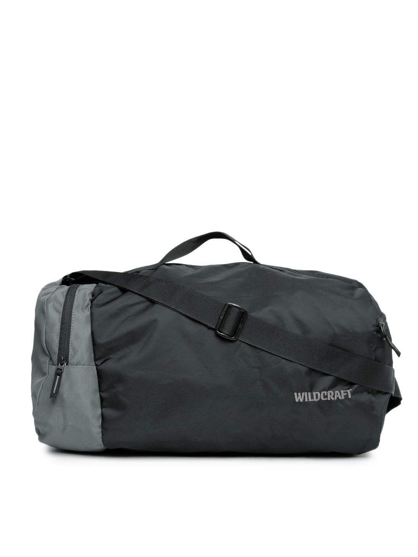 Wildcraft Black & Grey Combat Nova Duffel Men Bag Price in India