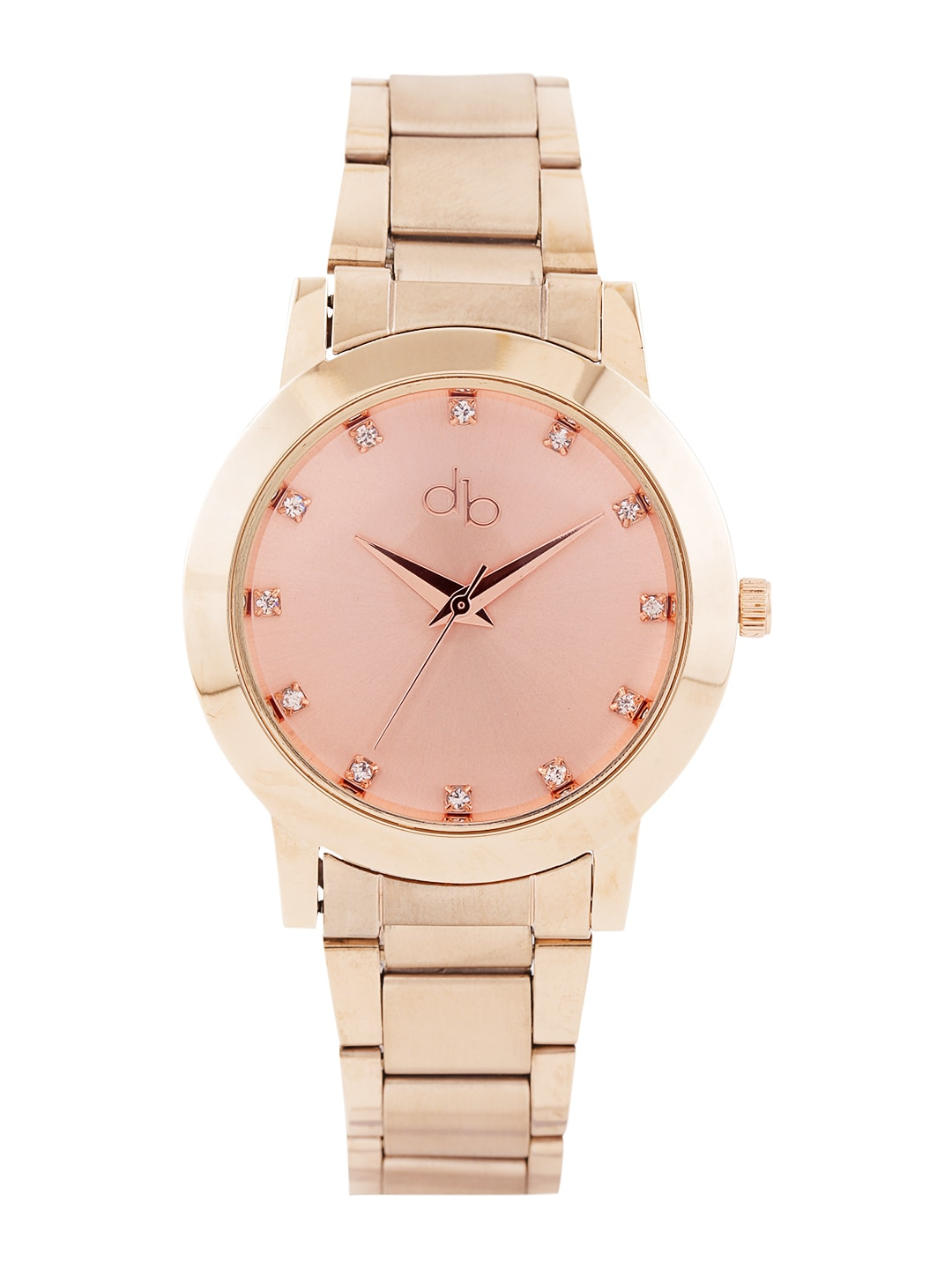 DressBerry Women Rose Gold-Toned Dial Watch DB1-A image