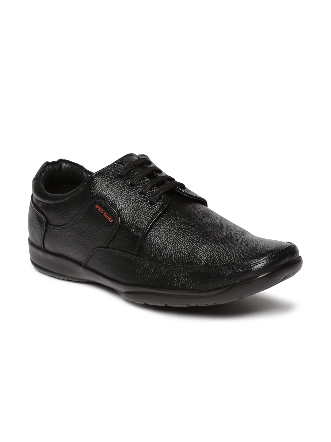 Red Chief Men Leather Textured Formal Shoes image