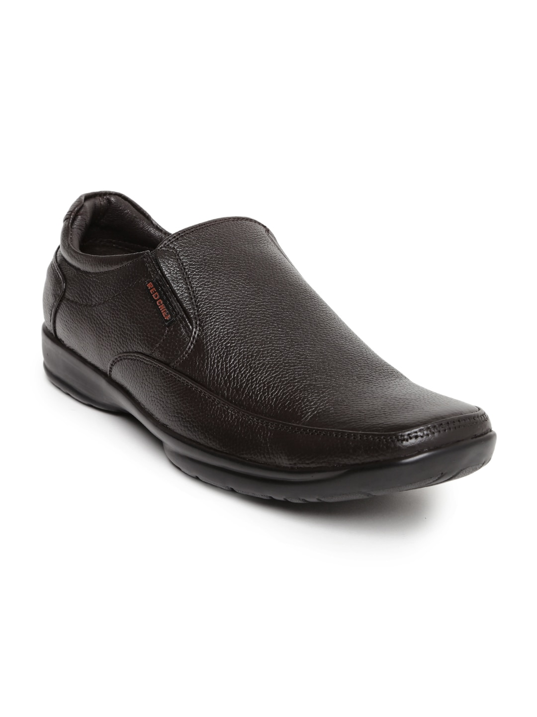 Red Chief Men Dark Brown Leather Slip-Ons image