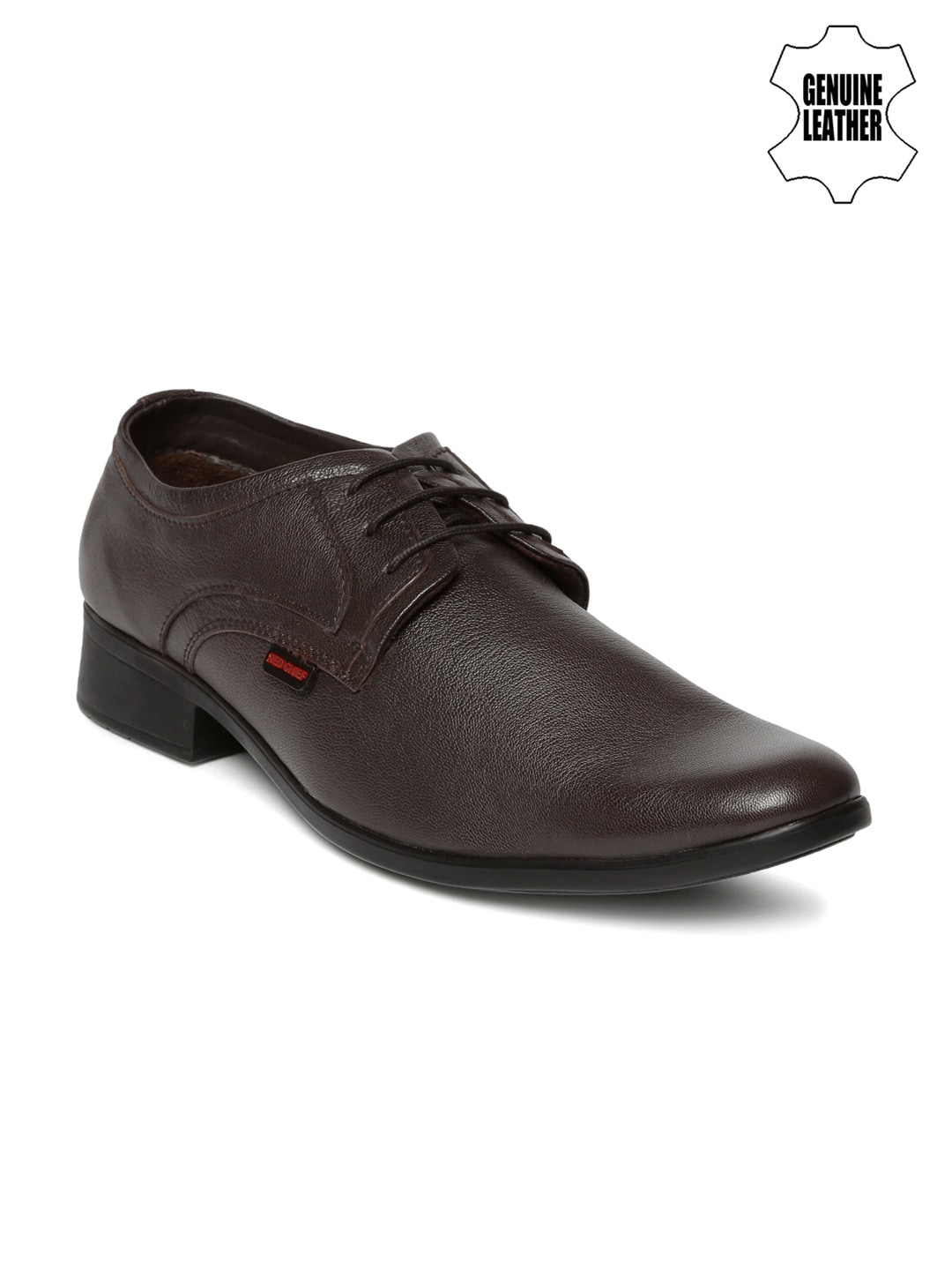 Red Chief Men Brown Genuine Leather Semiformal Shoes image