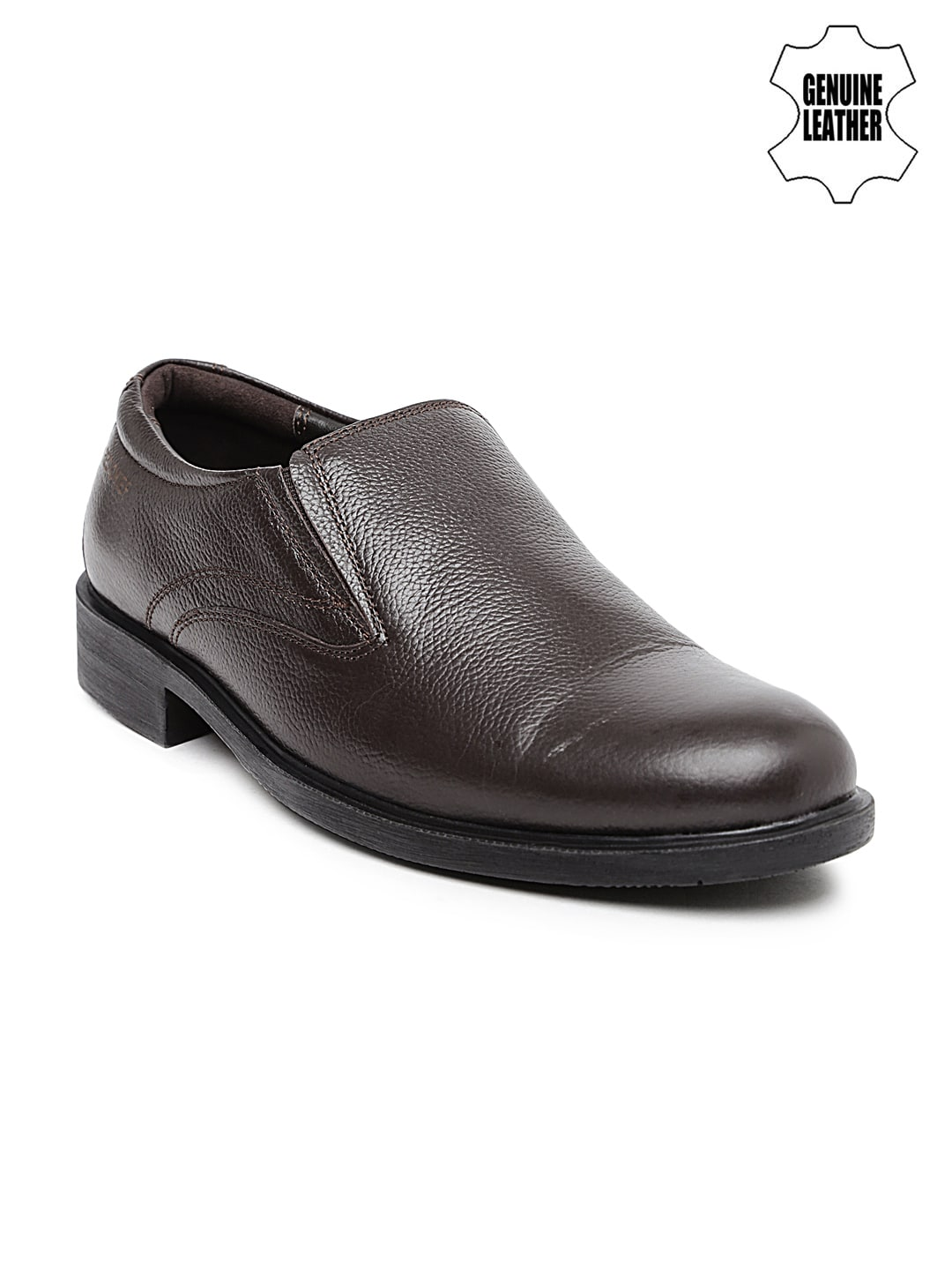 Red Chief Men Brown Genuine Leather Slip-Ons image