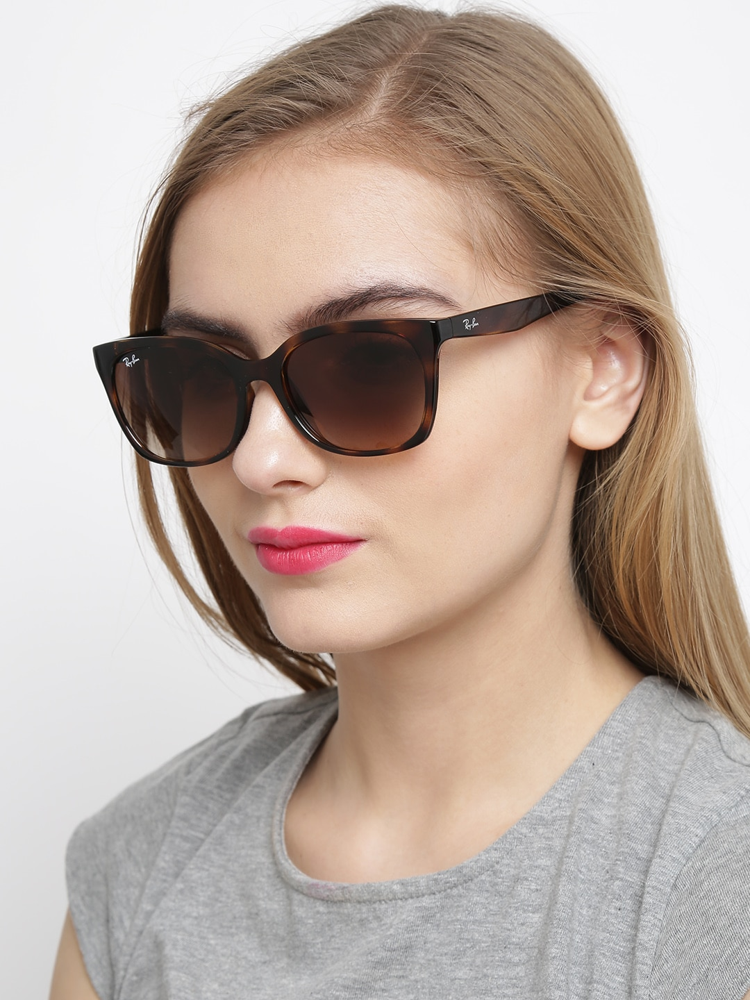 Ray-Ban Women Printed Oval Sunglasses 0RB7060I710/1354
