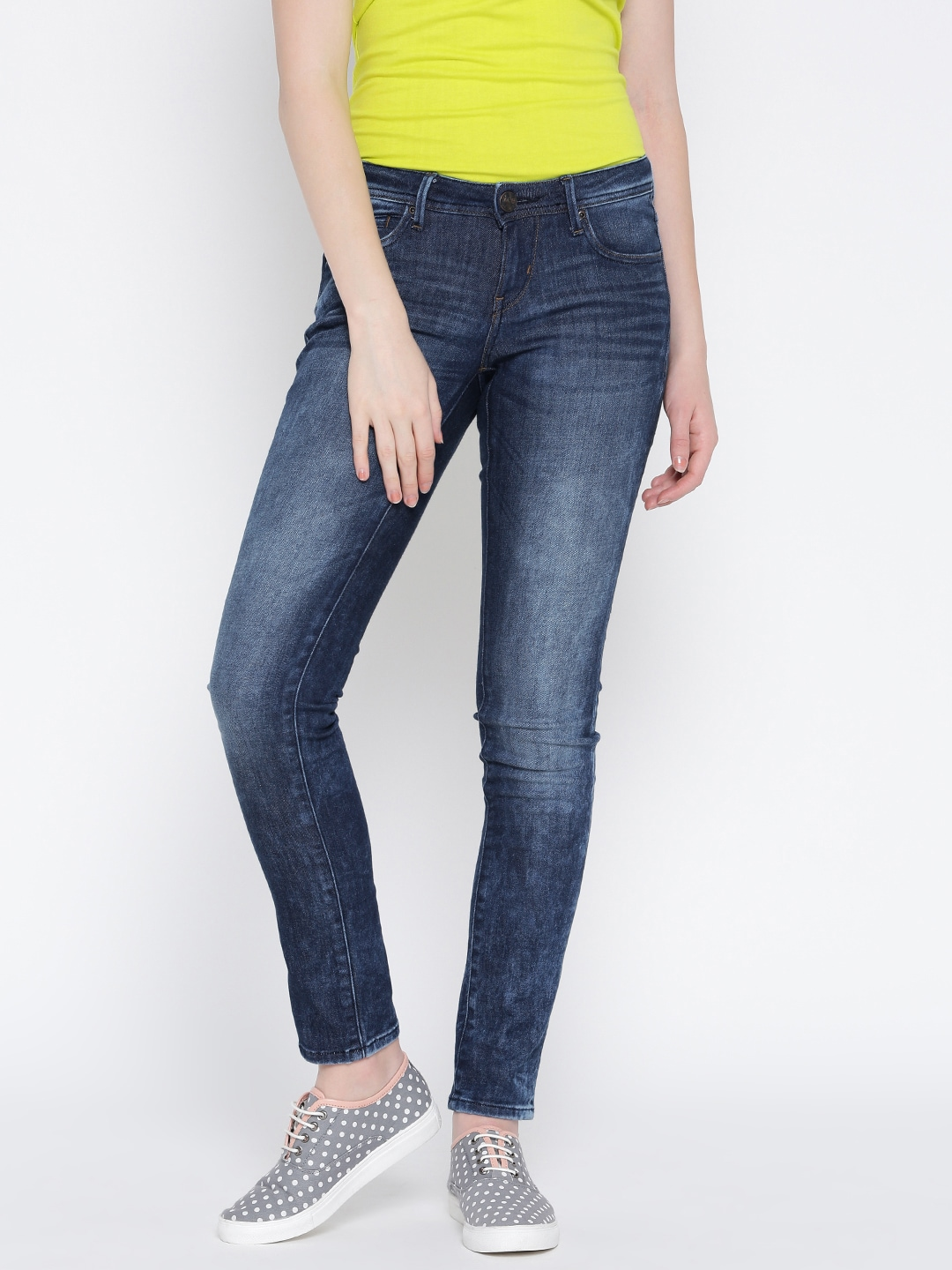 Lee Women Blue Skinny Fit Stretchable Jeans image