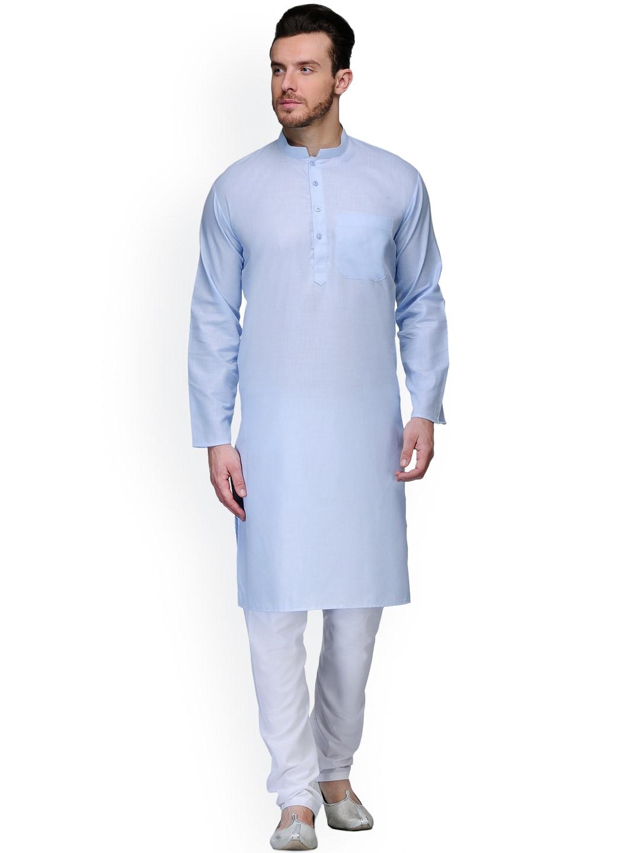akavya Blue & White Kurta Pyjama image