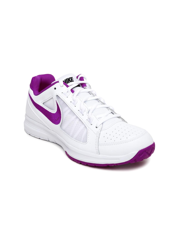 Nike Women White Air Vapor Ace Tennis Shoes image