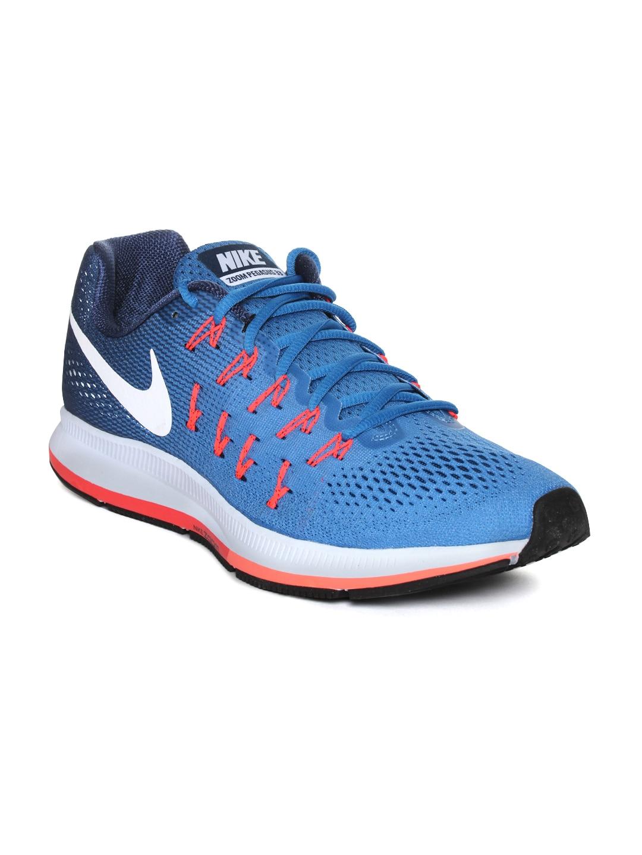 Nike Men Blue Air Zoom Pegasus 33 Running Shoes image